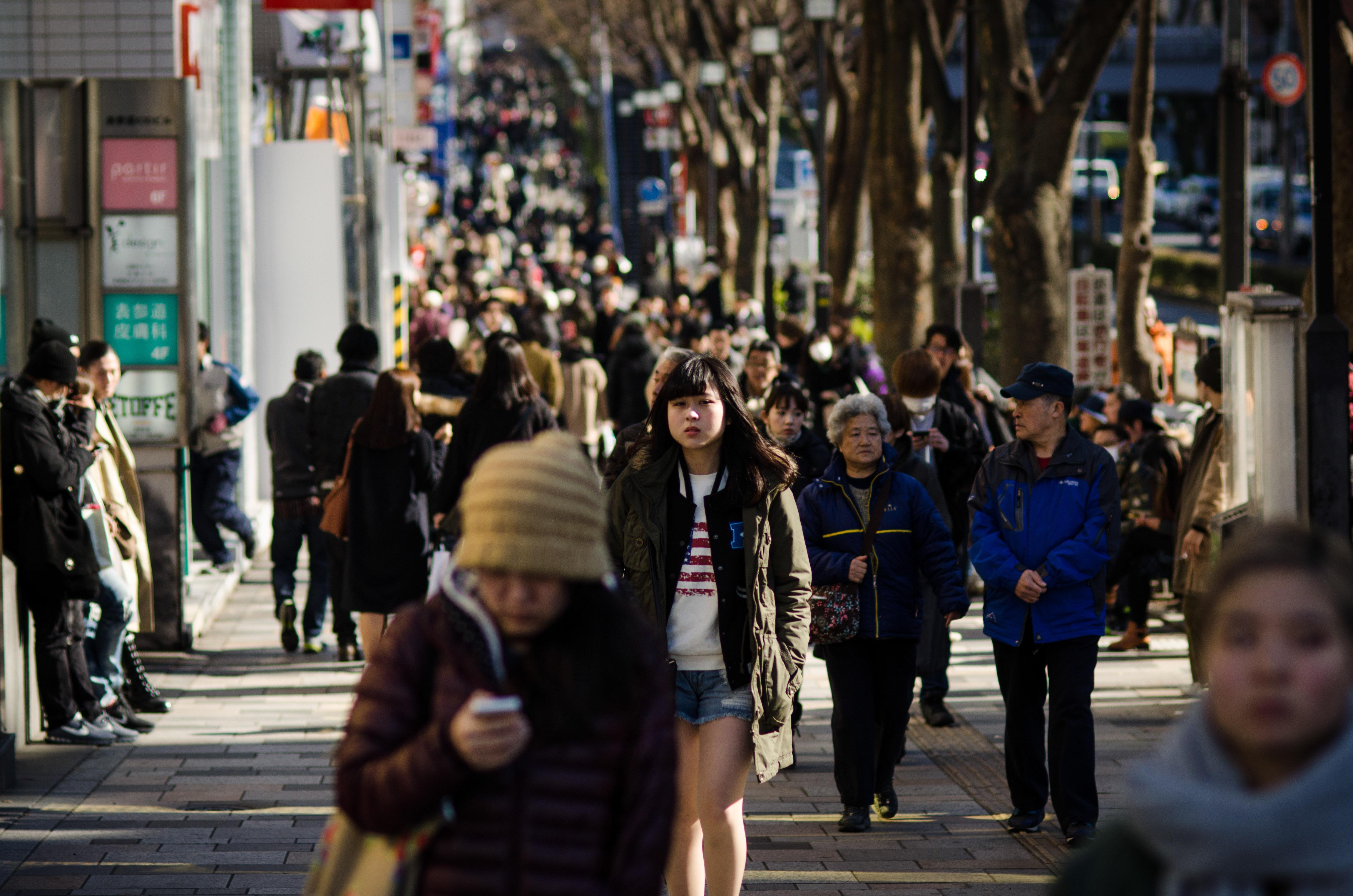 """Crowd,"" Eugene Lee Harujuku, Tokyo, Japan"